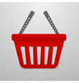 Color icon of shopping cart vector image vector image