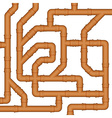 Connection of orange plastic sewer pipes vector image