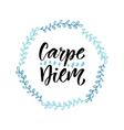 Carpe diem Handwritten latin quote Modern vector image