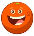 cartoon orange fruit character vector image