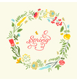 Cute floral wreath in retro style Summer vector image