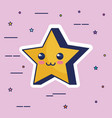 cute star kawaii character vector image