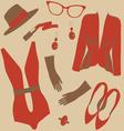 Elegant summer fashion pattern vector image