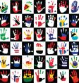 flags in the hands of kids vector image