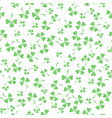 natural chamrock texture clover leaves vector image