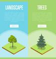 natural landscape design isometric posters vector image