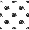 Painted eyebrows icon in black style isolated on vector image