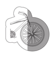 silhouette sticker medium part bicycle with pedals vector image
