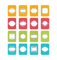 collection of stickers and labels in flat design vector image