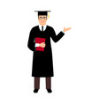 university male student graduate vector image
