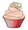 cupcake isolated on white vector image vector image