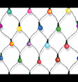 Seamless string of Christmas lights vector image vector image