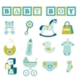 baby boy collection vector image vector image