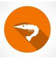 shrimp flat icon vector image vector image