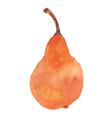yellow pear vector image