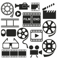 Icons videos movies vector image