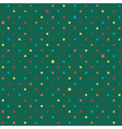 Rainbow Polka dot Green Background vector image