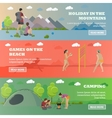 set of summer recreation concept banners in vector image