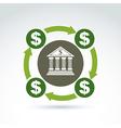 banking symbol financial system icon Circulation vector image