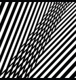 black and white abstract diagonal stripes pattern vector image