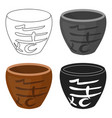 bowl icon in cartoon style isolated on white vector image
