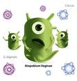 Cute cartoon atopobium bacteria vector image