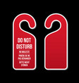 do not disturb door hotel sign vector image