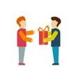 Giving a Gift for Employees vector image