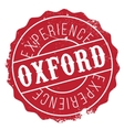 Oxford stamp rubber grunge vector image