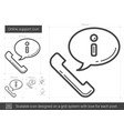 online support line icon vector image