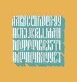 Balalaika font set vector image
