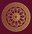 Luxury ornamental design background in golden vector image