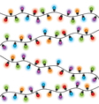 Christmas lights different colors vector image