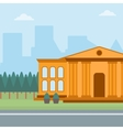 Background of educational building vector image