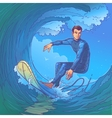 a surfer vector image
