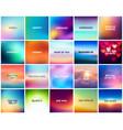 Big set of 20 square blurred nature backgrounds vector image