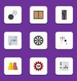 flat icon games set of gomoku dice arrow and vector image