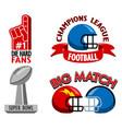 football championship fancy badge vector image