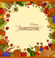 happy thanksgiving holiday festival background vector image