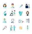Nurse icon flat vector image
