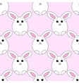 seamless pattern with easter bunny vector image