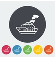 Ship flat icon vector image