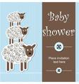 baby shower - boy vector image vector image