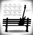 2017 Creative guitar calendar vector image
