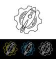 space rocket shuttle logo logotype vector image