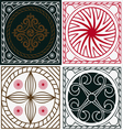 ornamental scuares vector image