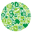 Green concept of human world vector image vector image