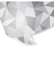 Abstract crystal speech bubble EPS 10 vector image