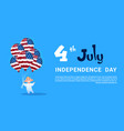 small boy hold air balloons united states flag vector image