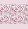 Seamless floral gentle pattern vector image